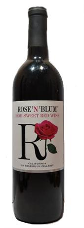 Rose'N'Blum Semi-Sweet Red Wine